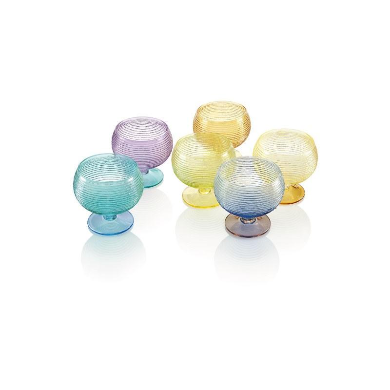 Set multicolor 6 vasos de helado Prado Jaca tienda online