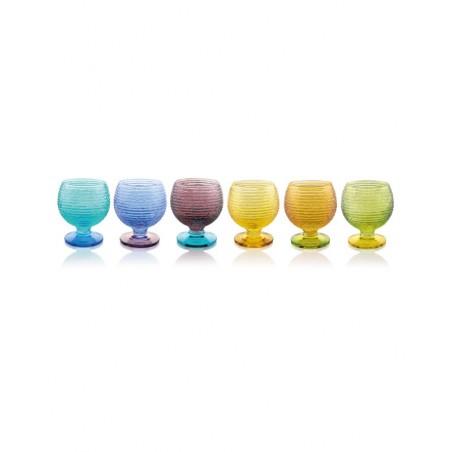 Set multicolor 6 vasos de licor Prado Jaca tienda online