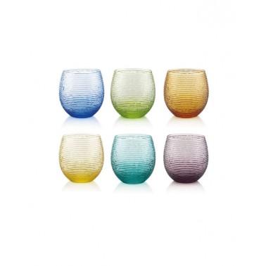 Set multicolor 6 vasos de agua Prado Jaca tienda online