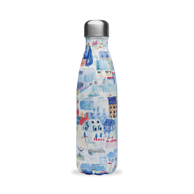 Botella de los techos de París