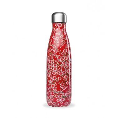Botella Flores Rojas